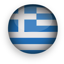 Greek Flag button round