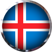 Iceland Flag button