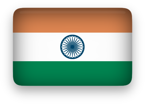 India Flag clipart rectangular