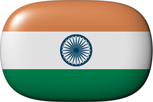 India button rounded corners