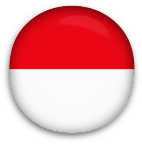 Indonesia Flag button