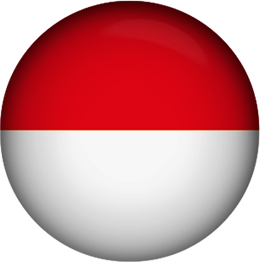 Indonesia button round