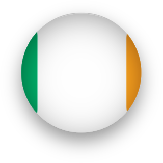 Ireland Flag button round