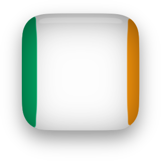 Irish Flag button clipart square