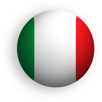 Italian flag button round