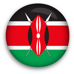 Kenya Flag button round