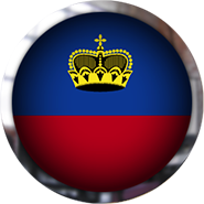 Liechtenstein Flag button round