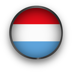 Luxembourg Flag button round