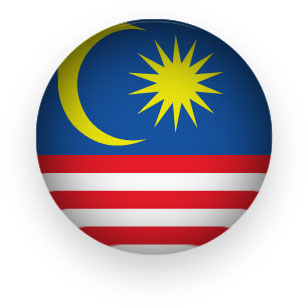 Malaysia Flag button round