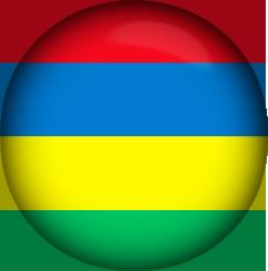 Mauritius Flag button round
