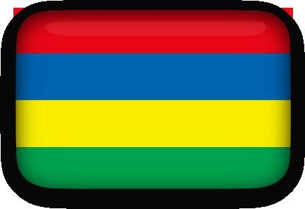 Mauritius Flag clipart rectangular