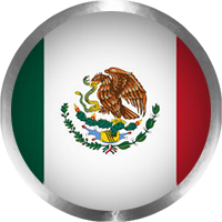 Mexican Flag button round