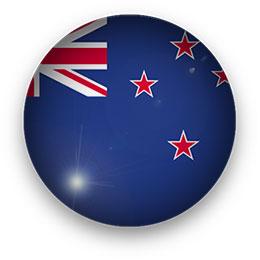 New Zealand Flag button round