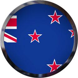 New Zealans Flag button trim
