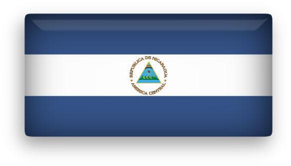 Nicaragua flag clipart
