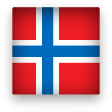 Norway flag button square