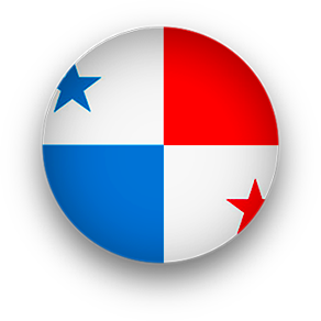 round Panama flag button