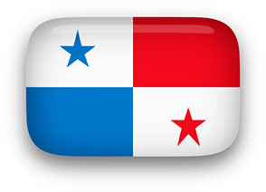 Panama Flag button rectangular