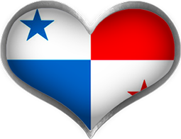 Panamanian heart flag