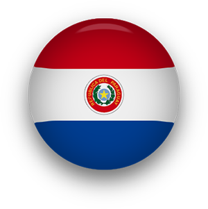 Paraguay Flag button round