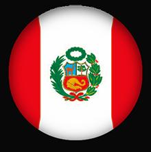 Peru round button