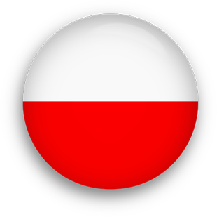 Poland Flag button round