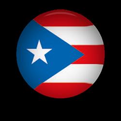 Puerto Rico Flag button round