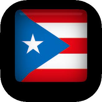 Puerto Rico flag clipart