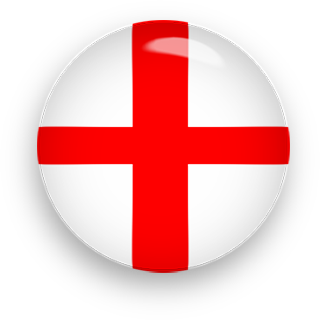 England Flag button round
