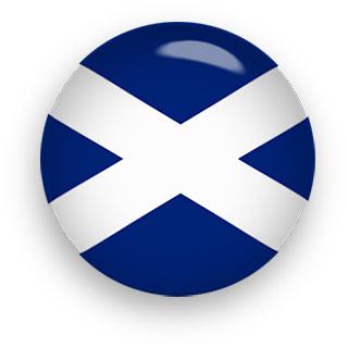 Saint Andrew's Cross Scotland Flag clipart button