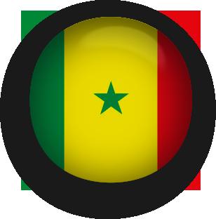 Senegal round button