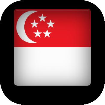 Singapore square button clipart