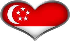 Singapore heart flag