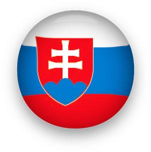 Slovakia Flag button round
