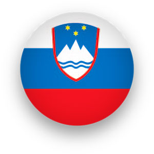 Slovenia Flag button round