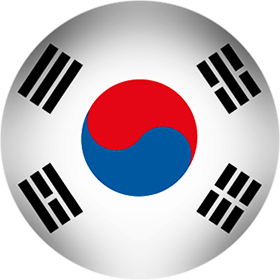 South Korea button