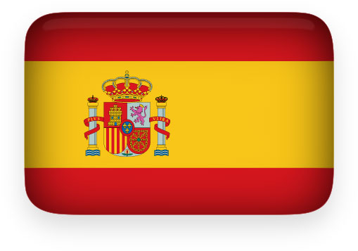 Spanish Flag clipart with rounded corners and a perspective shadow ...