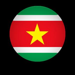 Suriname Flag button clipart
