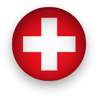 Swiss Flag button round