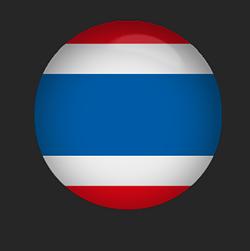 Thailand Flag button round