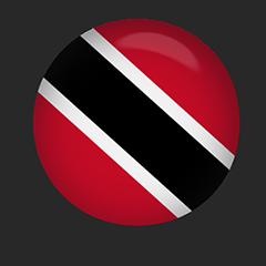 Trinidad and Tobago Flag button round