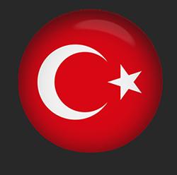 Turkey Flag button round