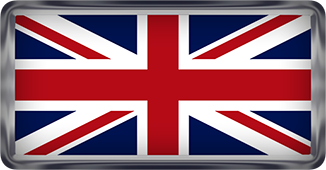 U K flag button rectangular