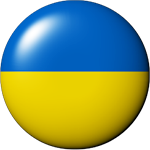 Ukraine flag button clipart