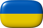 Ukrainian flag button
