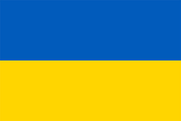 large Ukrainian flag