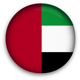 United Arab Emirates flag button round