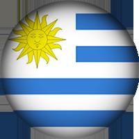 Uruguay Flag button round