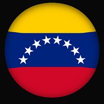 Venezuela Flag button round