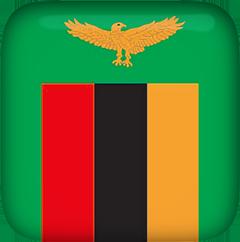 Zambia Flag clip art